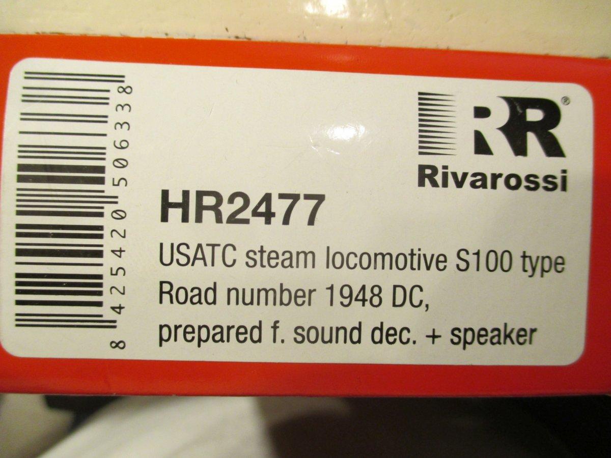 Rivarossi S100: S G B  stoomloc ombouw naar sound